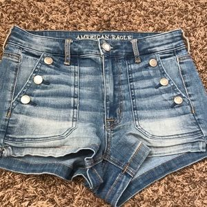 American Eagle Outfitters Denim Button Jean Shorts
